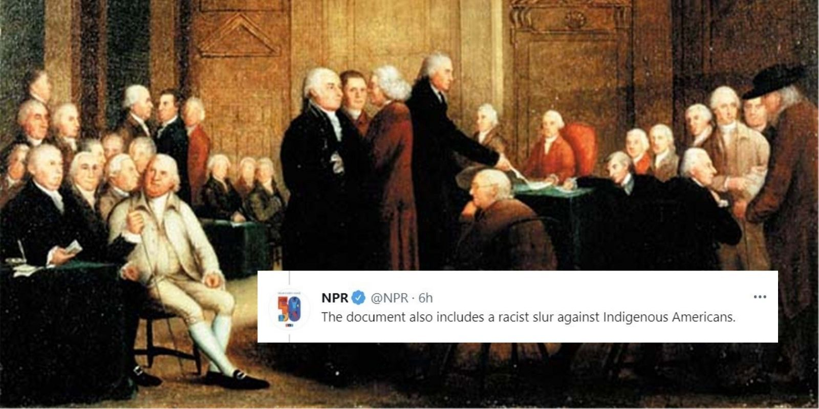 NPR denounces Declaration of Independence on July 4, cites 'racist slur' in editor's note
