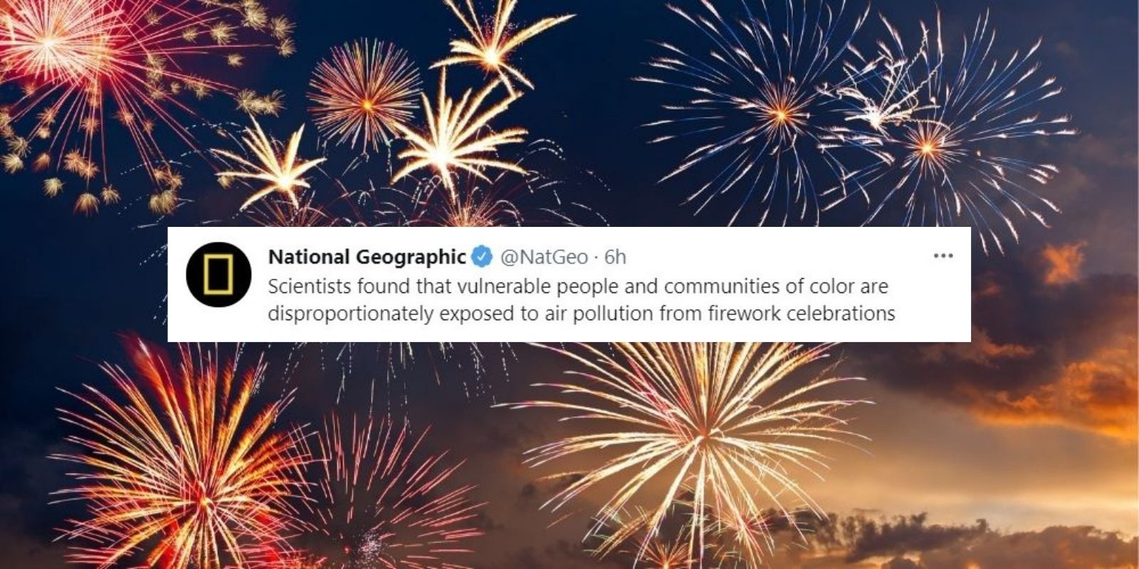 National Geographic claims Fourth of July fireworks are racist, smoke targets communities of color