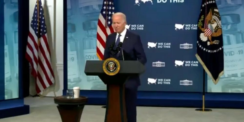 BREAKING: Biden checks notes before answering question on latest ransomware attack