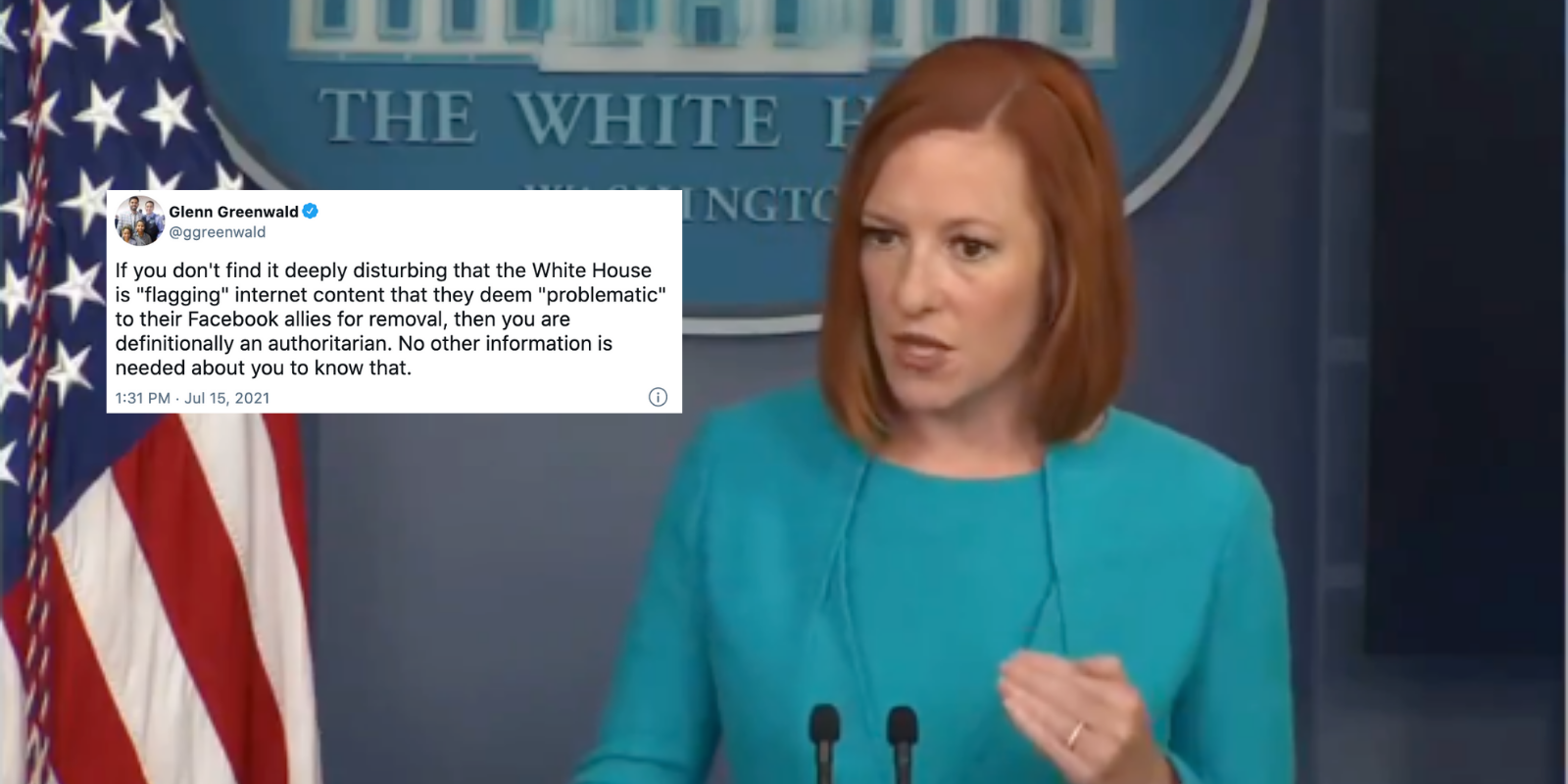 BREAKING: Biden admin 'flagging problematic posts', putting pressure on big tech to increase 'fact-checking' efforts