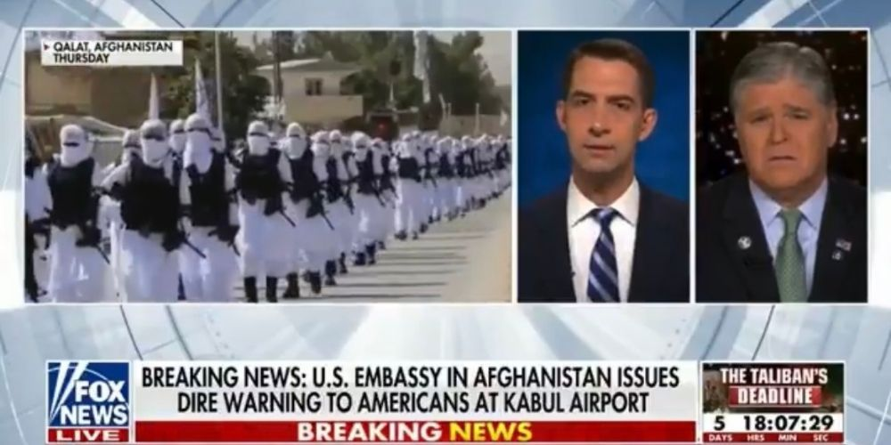 WATCH: Senator Tom Cotton slams Biden's 'ill-planned, chaotic withdrawal' from Afghanistan