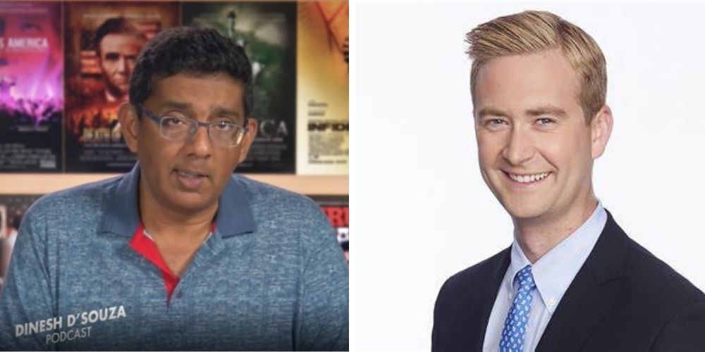 WATCH: Dinesh D'Souza says Peter Doocy is the 'one journalist who stands out in the White House press corps'