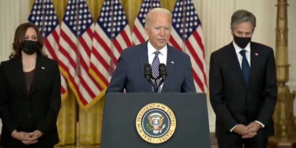 BREAKING: Biden says there's 'no indication' that the Taliban are preventing Americans from escaping Afghanistan