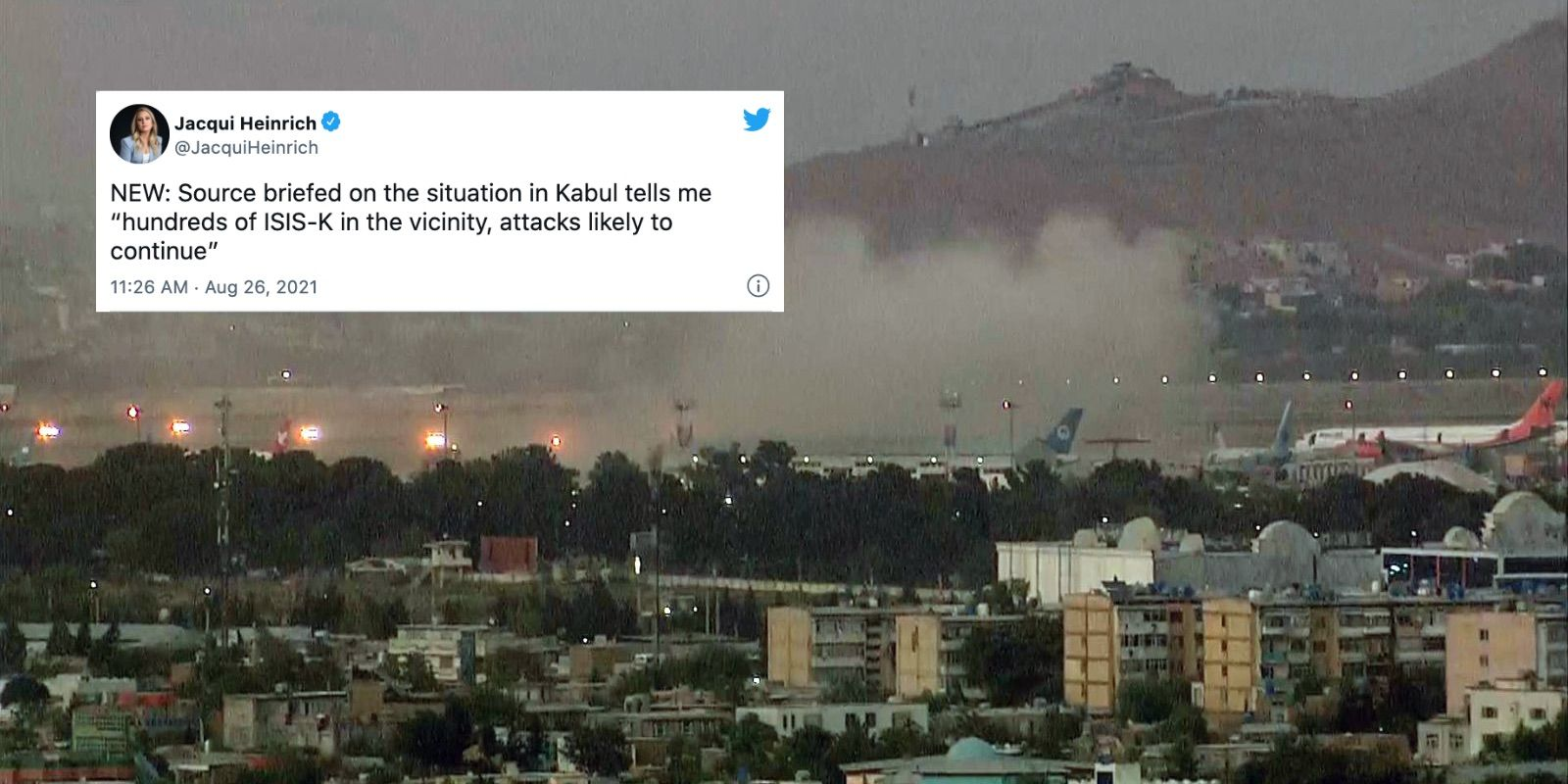BREAKING: More ISIS-K attacks in Kabul likely: source