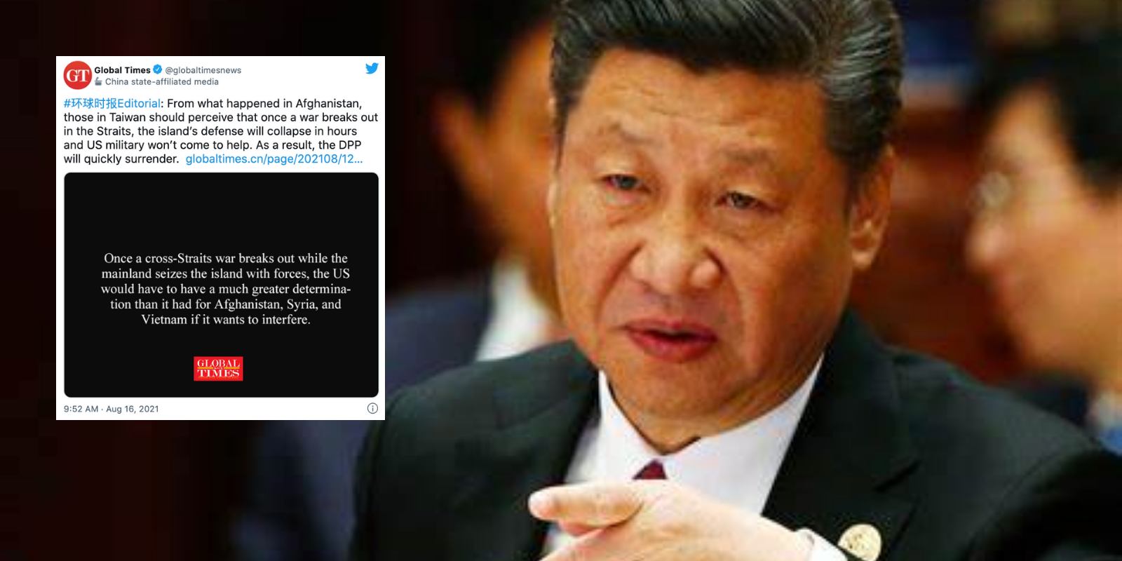 Chinese state media uses Afghanistan disaster to justify takeover of Taiwan