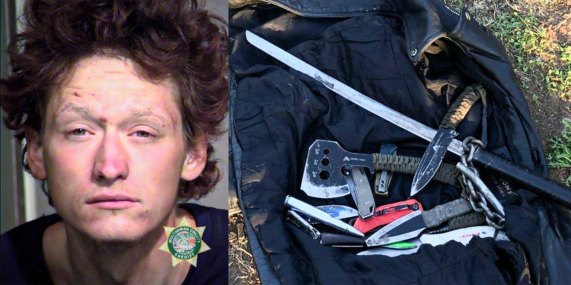 Burglary suspect threatens Portland police officers with sword, axe
