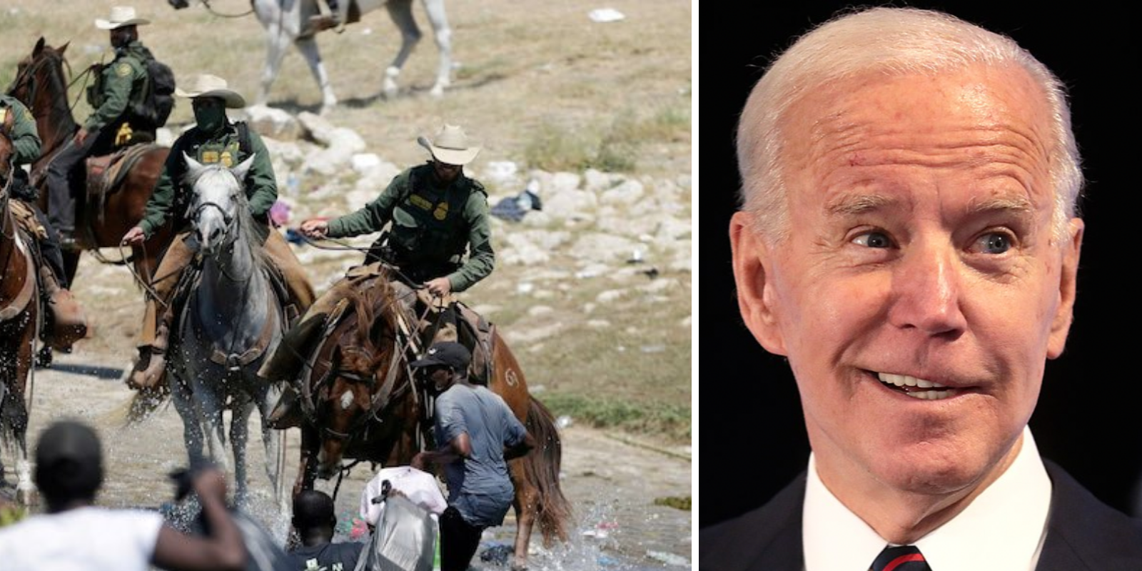Journalist who photographed border patrol agents on horseback debunks media and Biden's claims that Haitian migrants were 'whipped'