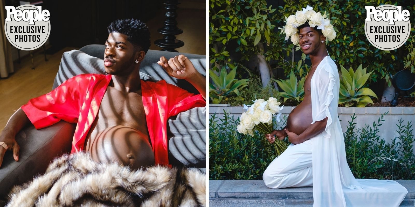 Lil Nas X poses as pregnant man in bizarre new photo shoot