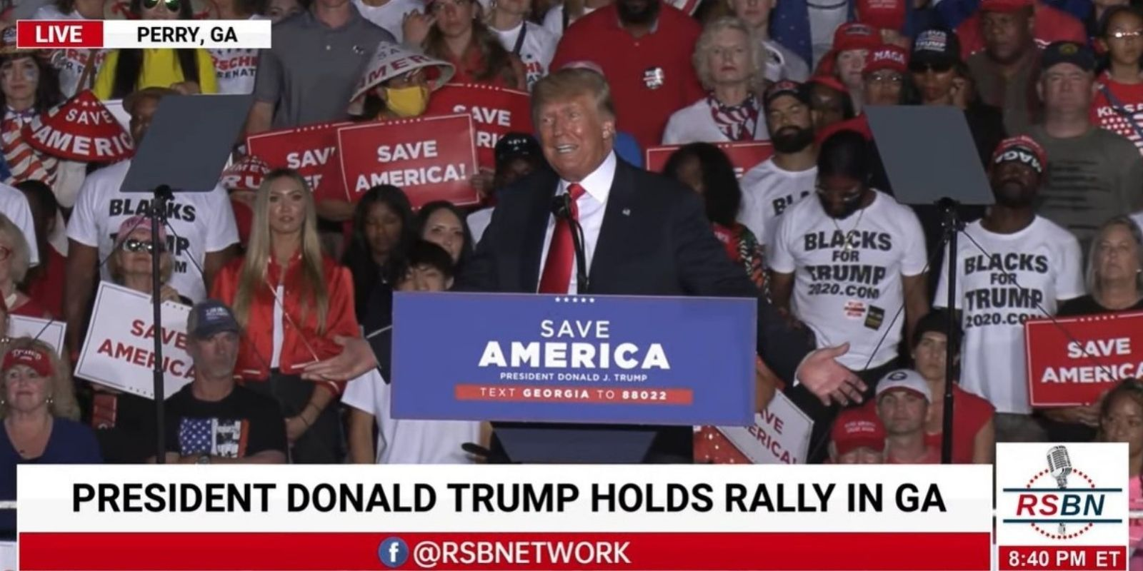 BREAKING: Trump speaks at massive Georgia rally, slams Biden over border crisis and botched Afghanistan withdrawal