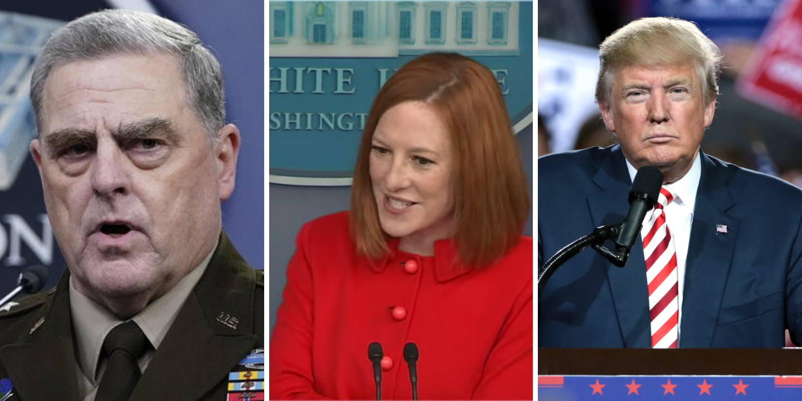 BREAKING: White House defends General Milley after revelations he undermined Trump by speaking to Chinese counterpart