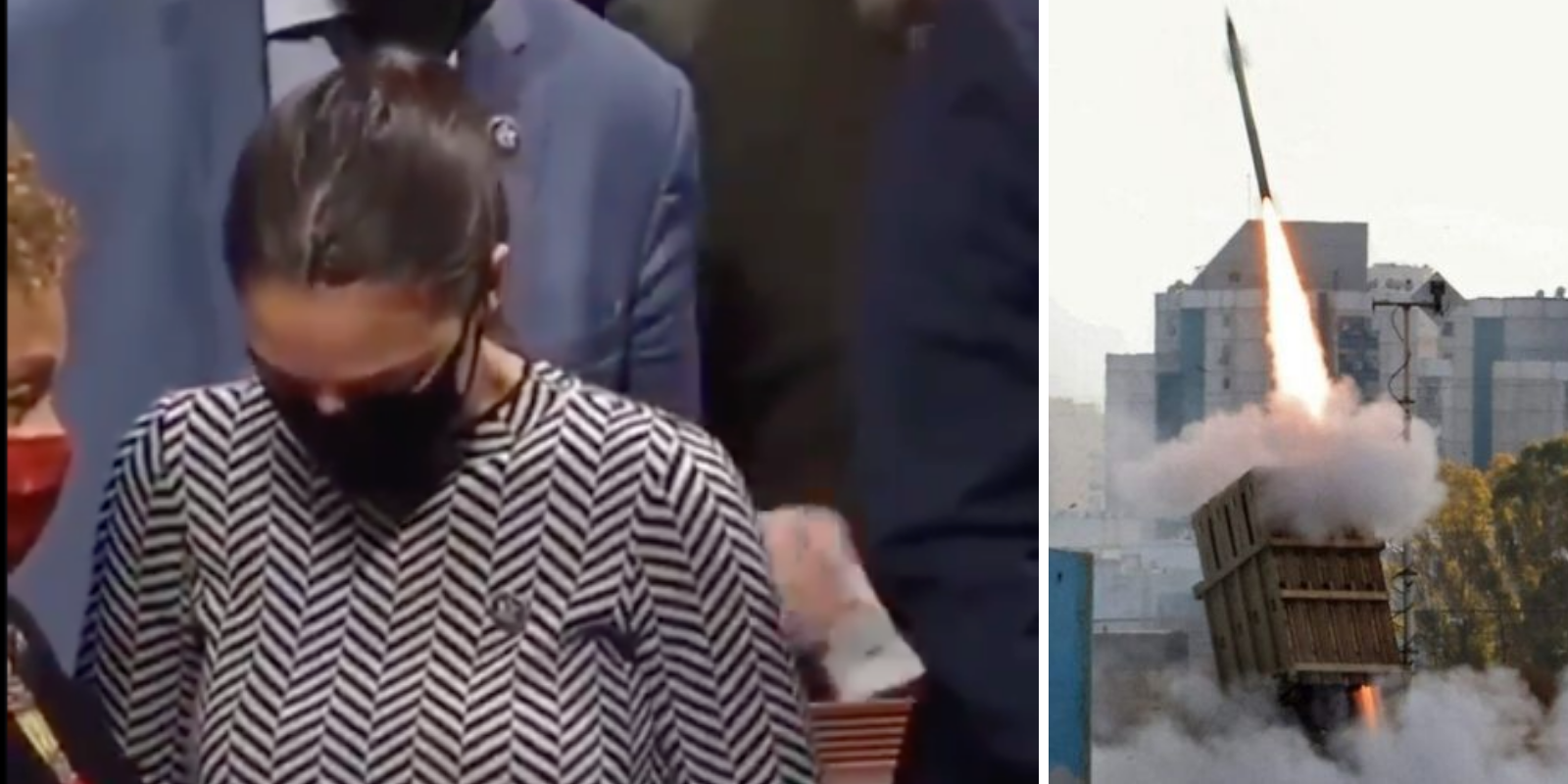 BREAKING: AOC appears to cry after changing her vote for Iron Dome funding from 'no' to 'present'