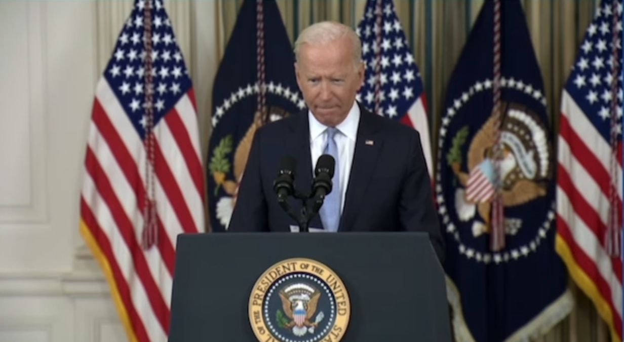 WATCH: Biden takes 'responsibility' for migrants being 'strapped' at the border
