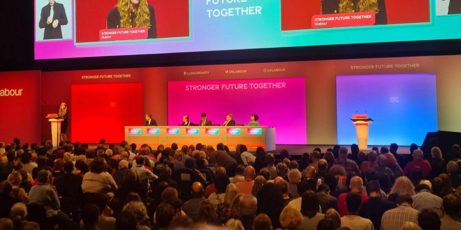 Labour executive complains that 'too many white men' were speaking at conference