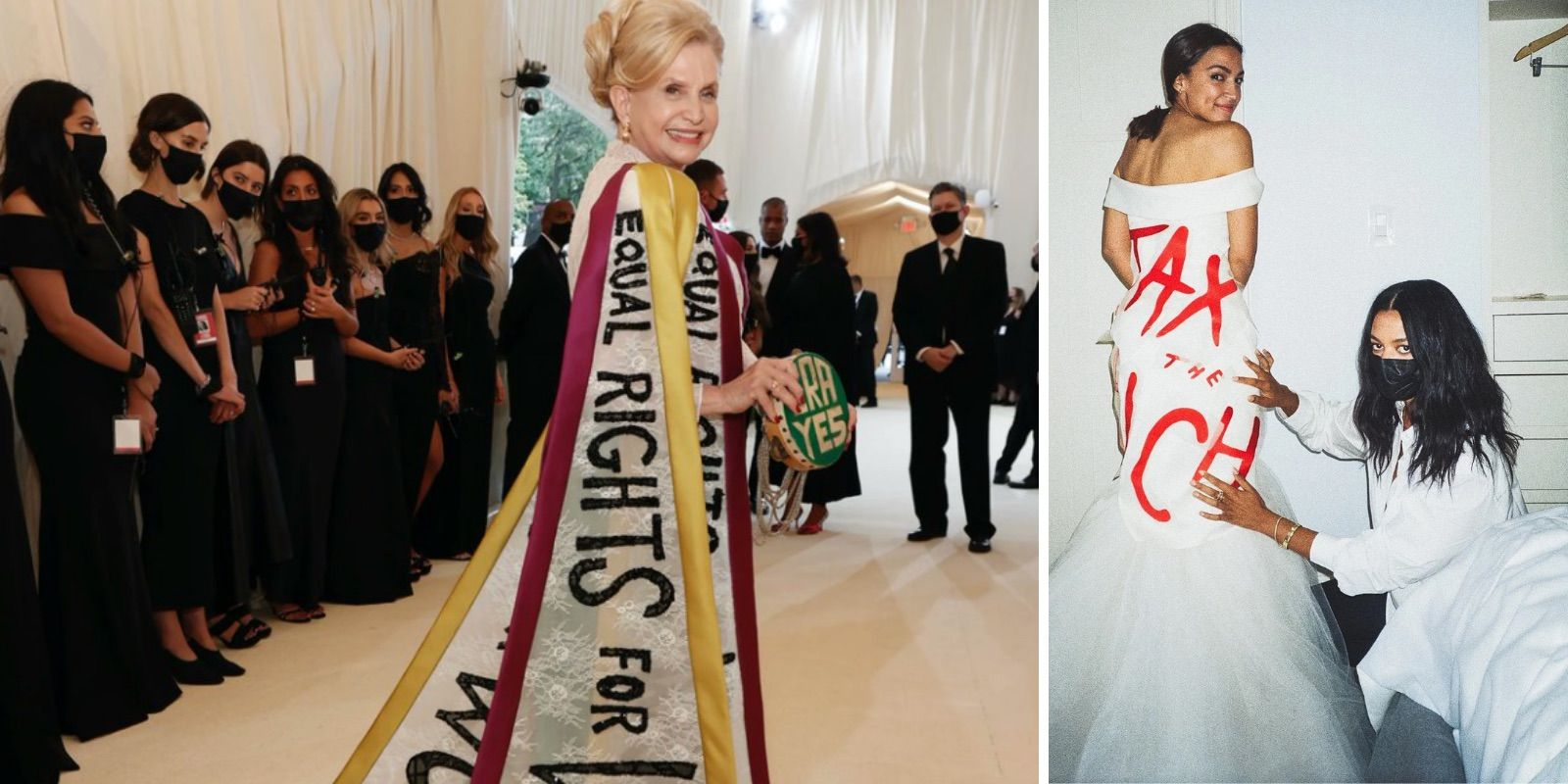 Rich elites go maskless, promote 'social justice,' while the servant class must wear masks at Met Gala