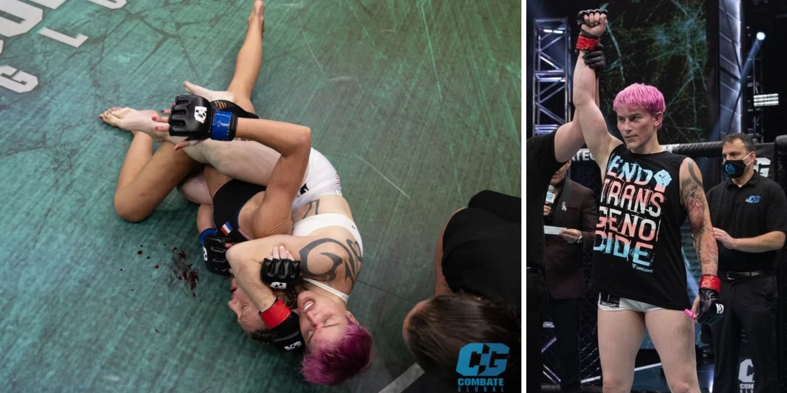 Trans woman fighter beats woman to submission in MMA match