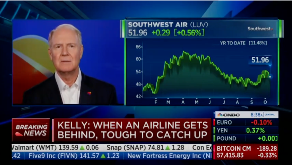 WATCH: Southwest CEO denies 1000s of flight cancelations were over vaccine mandates, blames 'absenteeism', Libby Emmons, on October 12, 2021 at 3:03 pm The Post Millennial