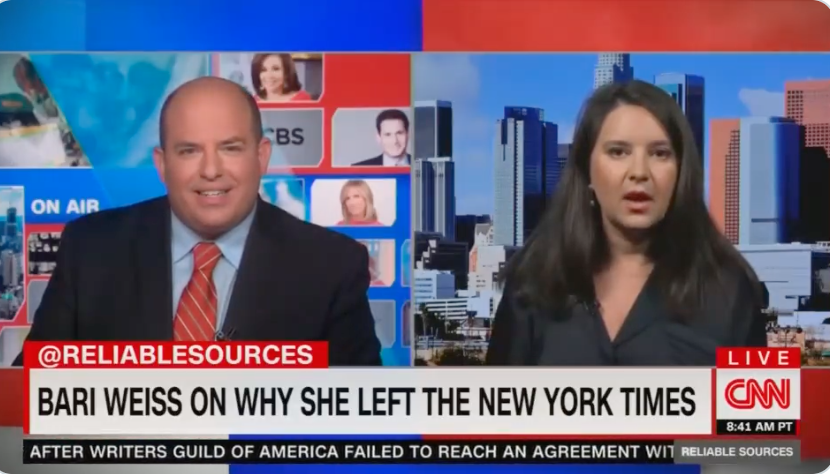 WATCH: Bari Weiss SCHOOLS CNN's Brian Stelter about mainstream media's complicity in subverting truth, Libby Emmons, on October 18, 2021 at 5:06 pm The Post Millennial