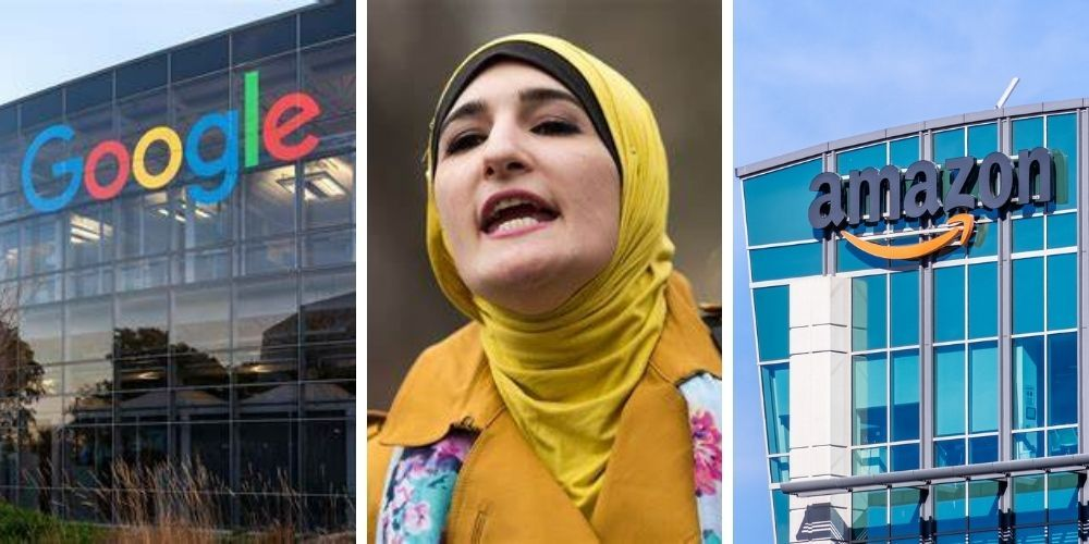 Google and Amazon slammed for sponsoring tech event featuring antisemitic radical Linda Sarsour
