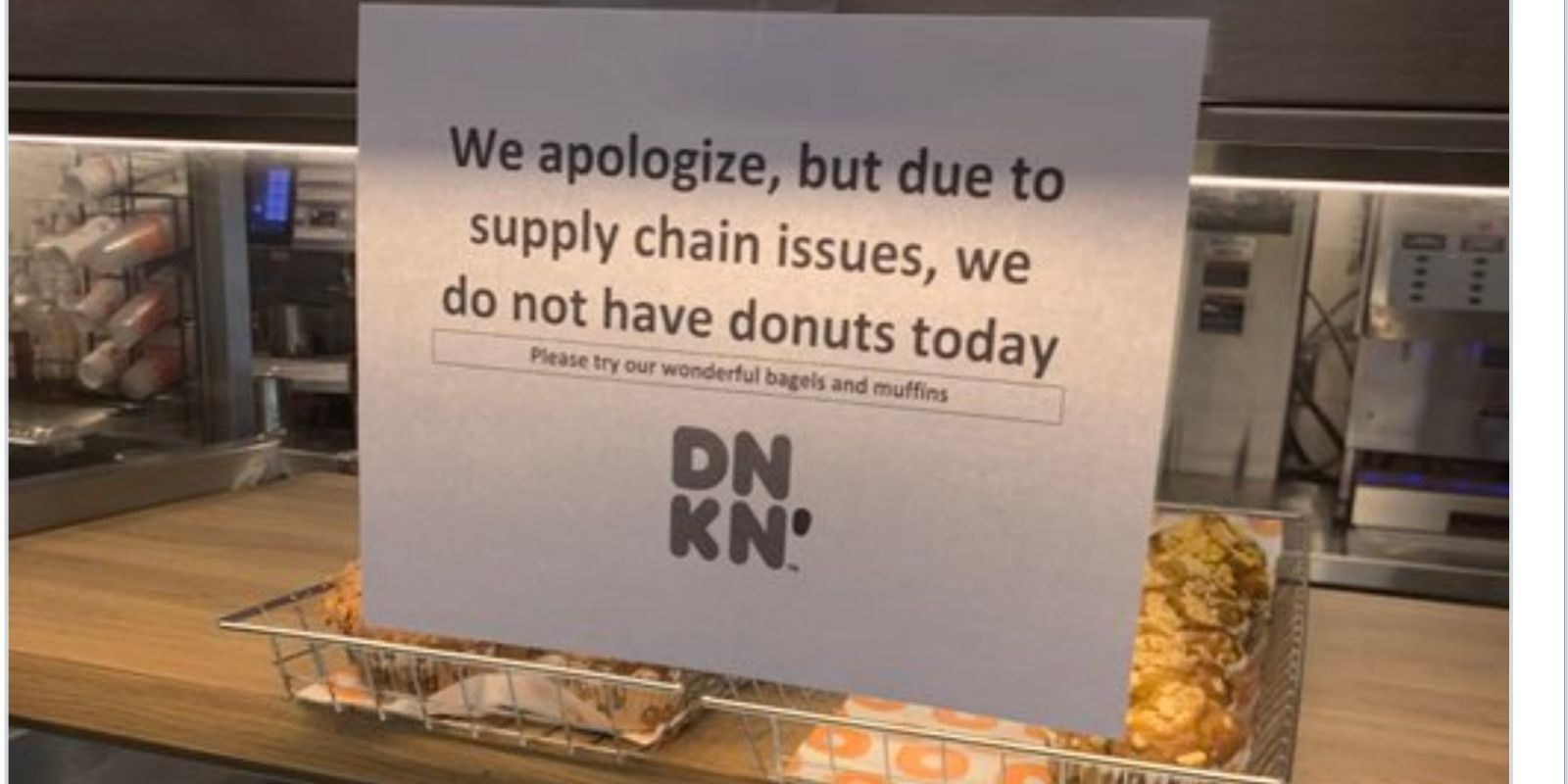 Dunkin Donuts runs out of donuts amid supply chain disruptions in Baltimore